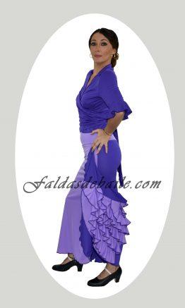 Falda de baile combinada