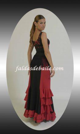 Falda de baile modelo granada combinado