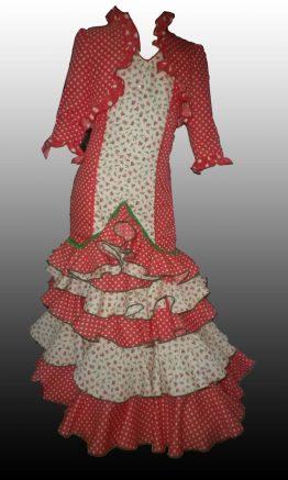 Vestido y torera flamenca de niña