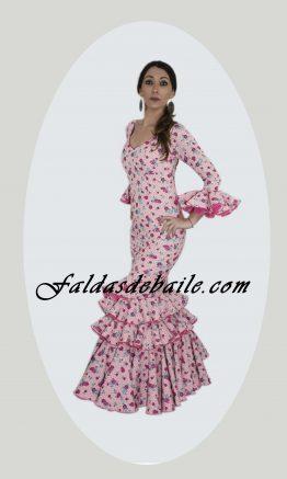 Traje de flamenca lycra flor